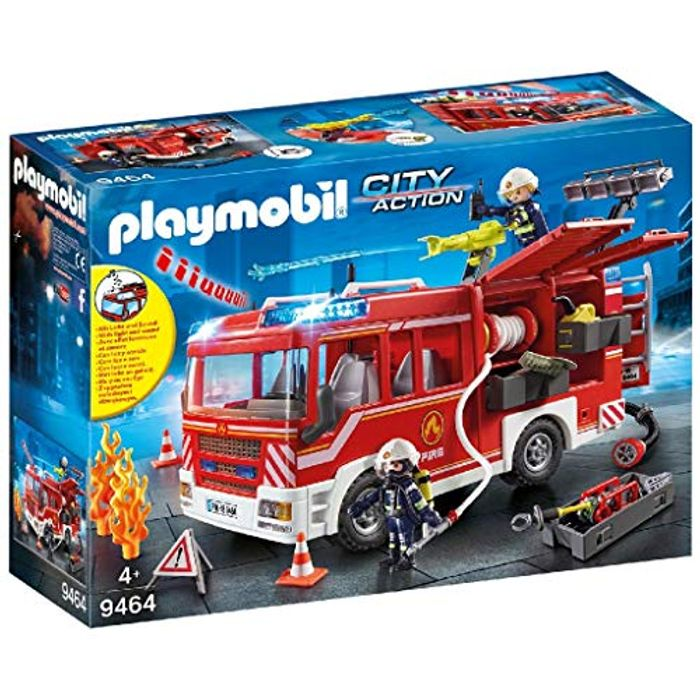 SAVE £14 - Playmobil Fire Engine with Light and Sound (9464)