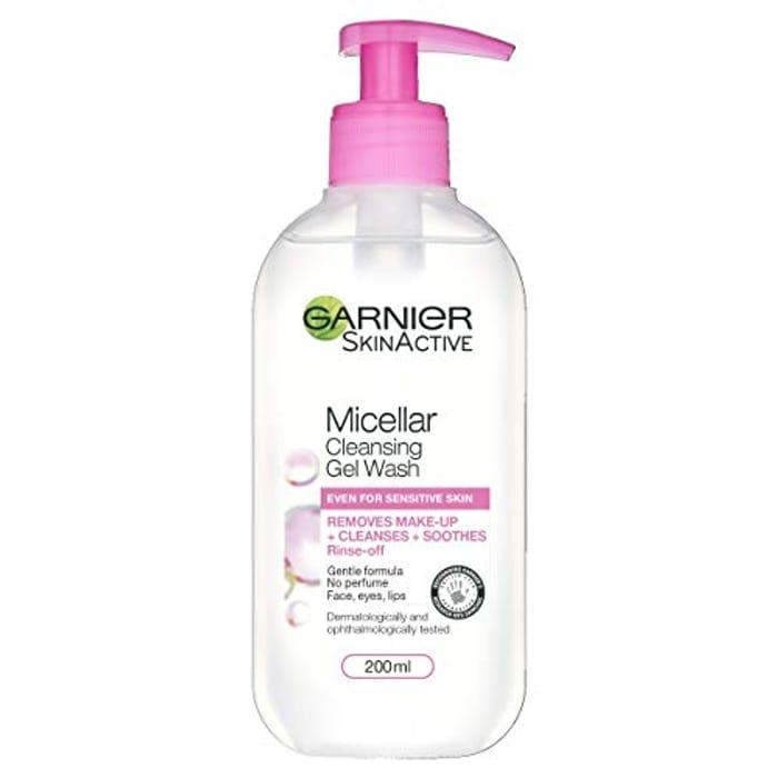 Garnier Micellar Gel Face Wash Sensitive Skin, 200ml at Amazon