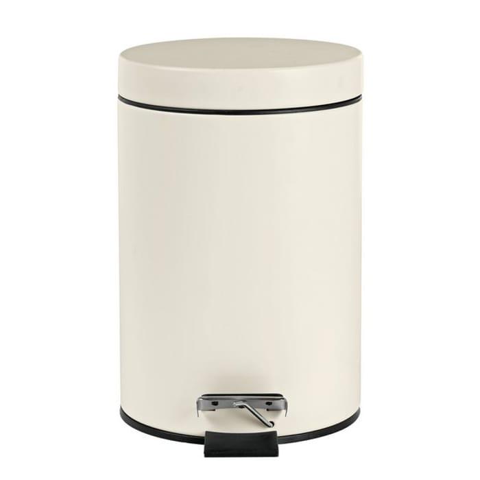 Argos Home 3 Litre Slow Close Bathroom Bin - Cream