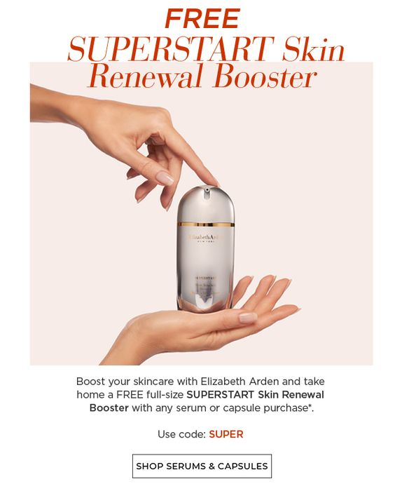 Free SUPERSTART Booster with Any Purchase of Serum or Capsule Product
