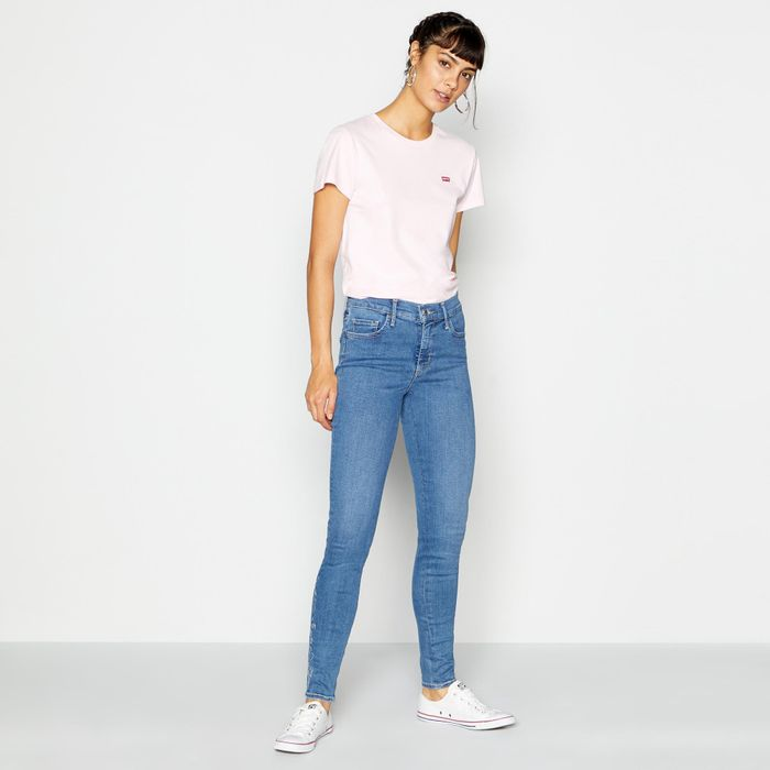 Levi's - Blue Shaping mid Wash '310' Super Skinny Jeans