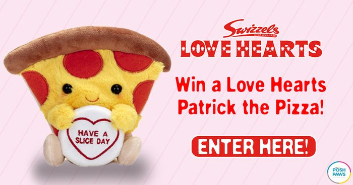 Win a Love Hearts Patrick the Pizza Plush Toy!(3 Winners)