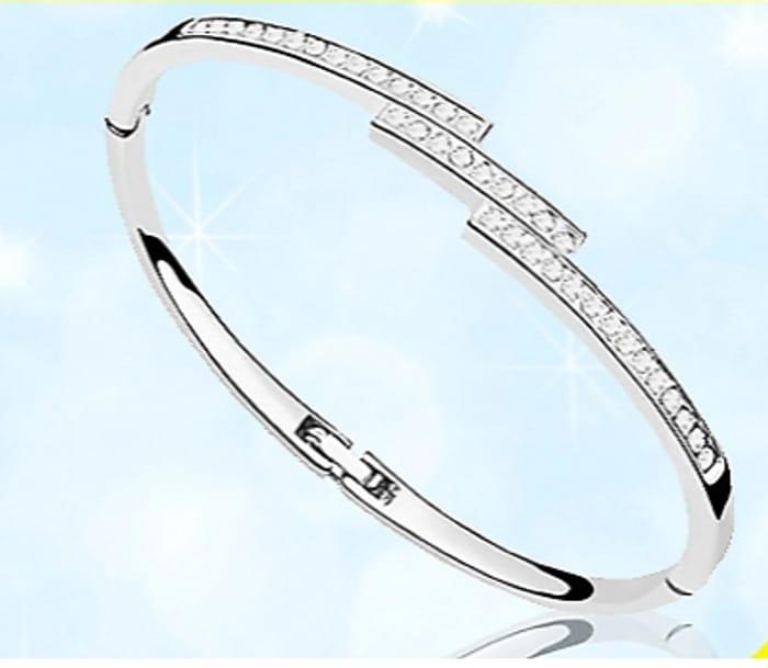 50% off Swarovski Elements Triple Crystal Row Bracelet