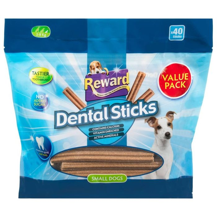 2 X 40 Reward Small Dog Dental Sticks