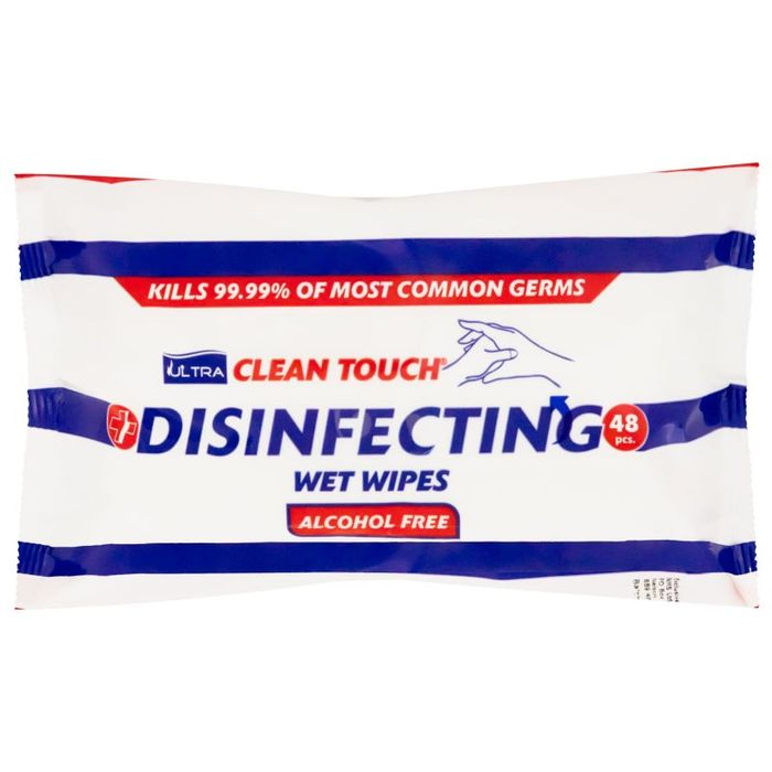 48 Ultra Clean Touch Disinfecting Wet Wipes