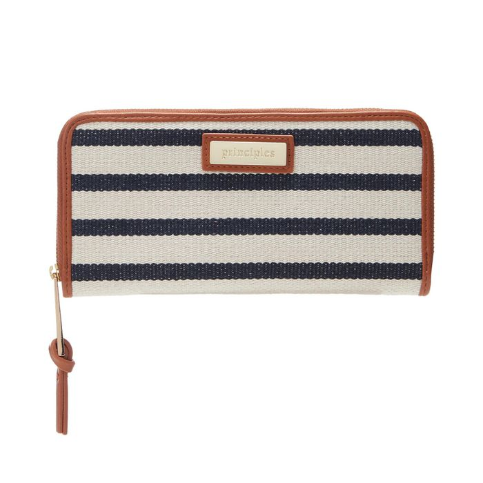 Principles - Multicoloured Striped Large Purse