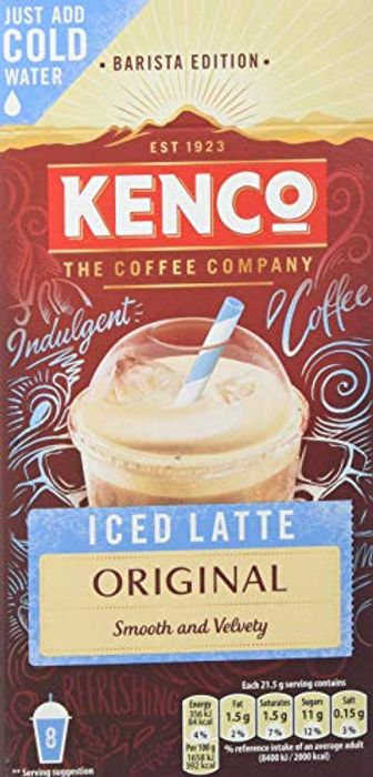 Kenco Iced Latte Original Instant Coffee, 8 Sachets
