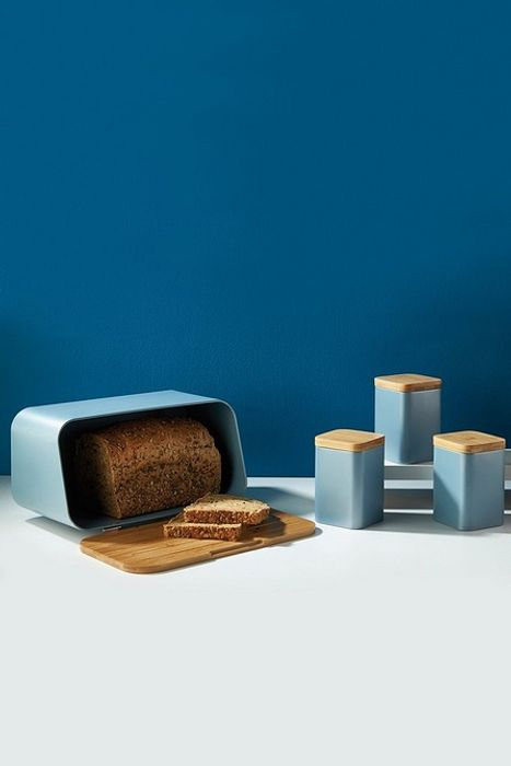 Salter Metallic Blue 4-Piece Storage Set