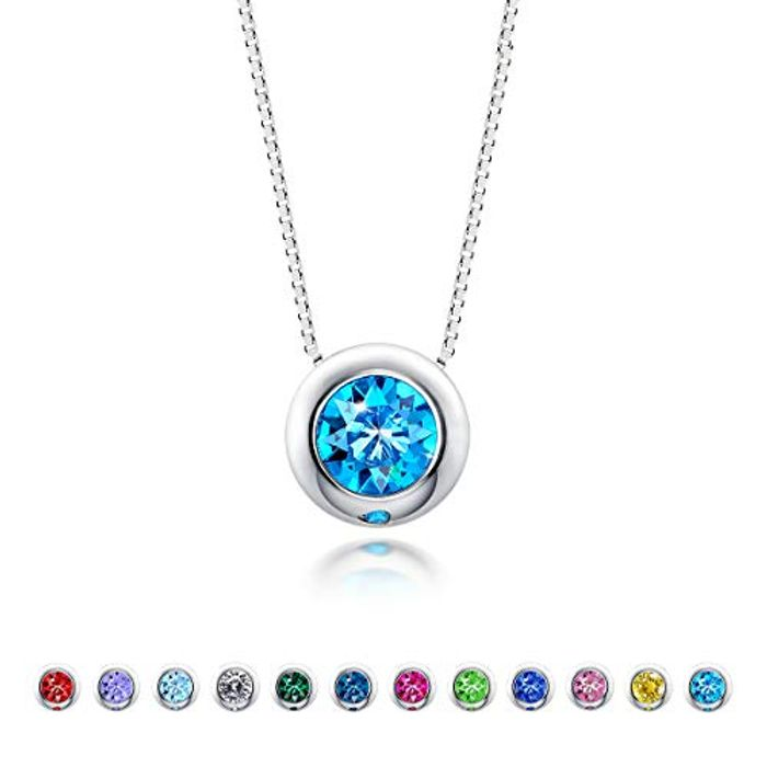 DEAL STACK - December Birthstone Necklace Sterling Silver