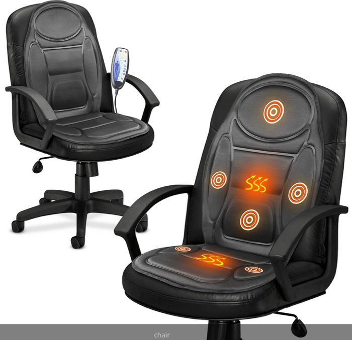 Electric Heated Back & Seat Massager Chair Cushion & Free Delivery