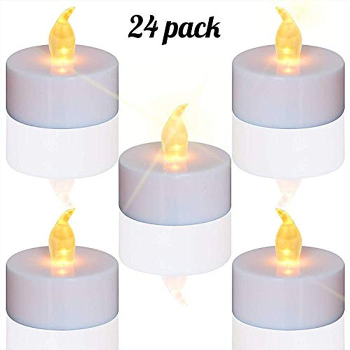 Tea Lights,LED Candles Flickering Flameless Candles, 24-Pack