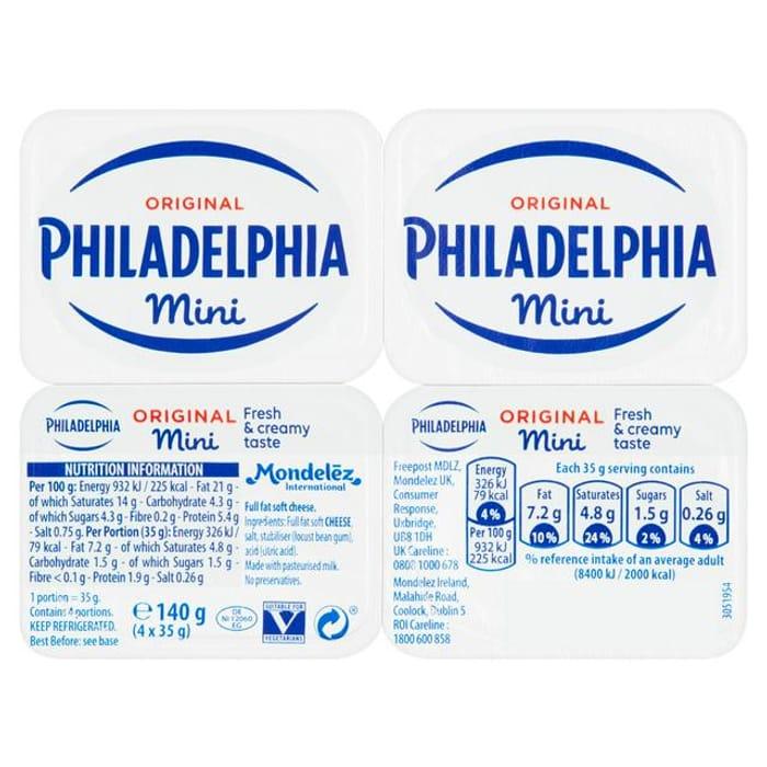 Philadelphia Original Soft Cheese Mini Tubs 140g
