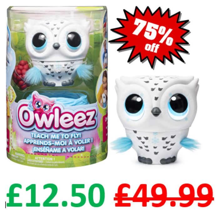 PRICE DROP! Owleez Flying Baby Owl Interactive Toy with Lights and Sounds