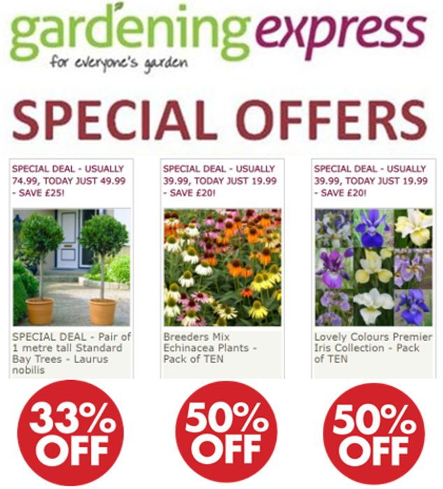 Gardening Express - Special Offers / HALF PRICE DEALS!