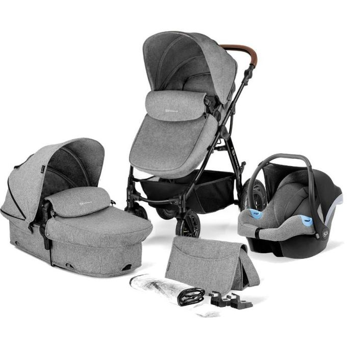 Kinderkraft Moov 3in1 Travel System-Grey Melange