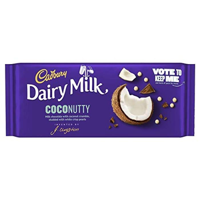 Cadbury Dairy Milk Coconutty Chocolate Bar, 105g