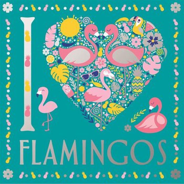 Cheap I Love Flamingos Colouring Book - Save £2.99!