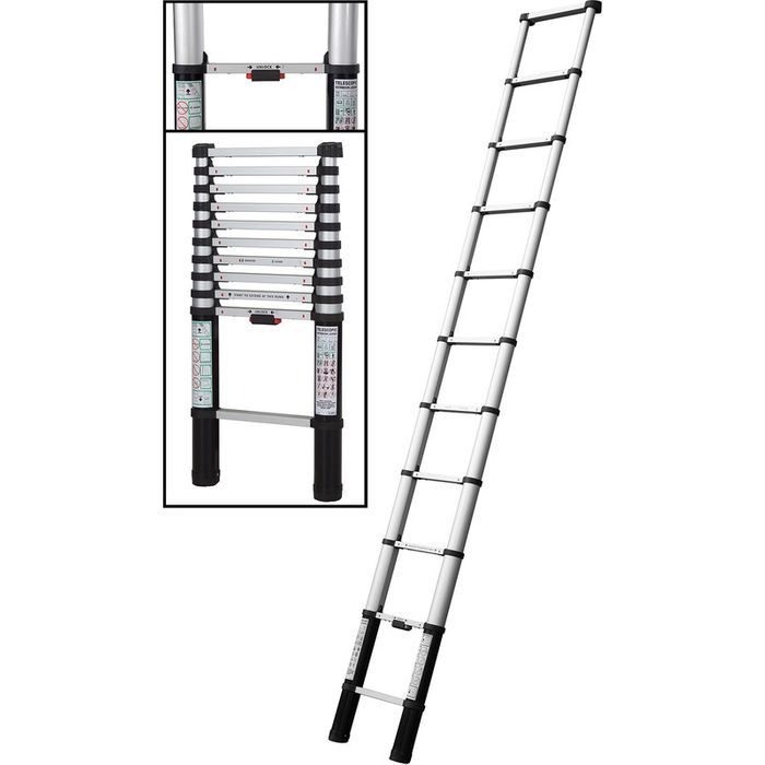 Cheap Abru Telescopic Extension Ladder 3.2m Only £109.98