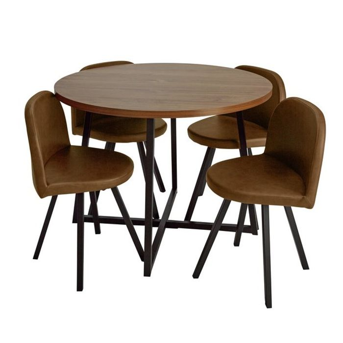 Argos Home Nomad Oak Effect Dining Table & Four Chairs