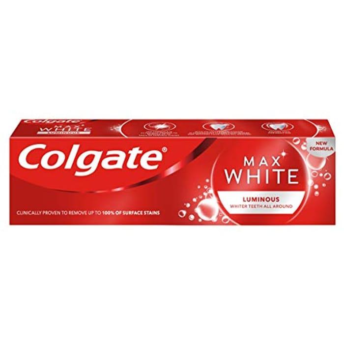 Colgate Max White Luminous Whitening Toothpaste, 75ml