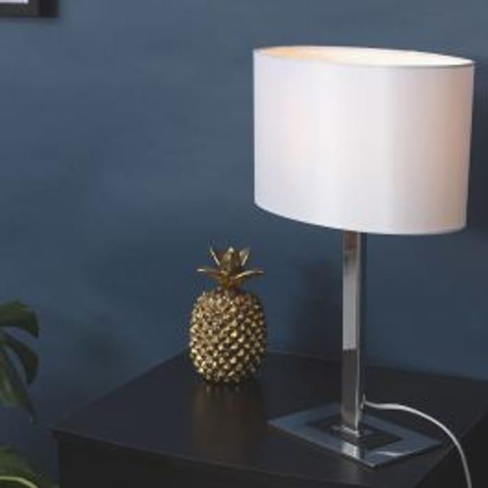 Iconic Columbus Chrome Table Lamp