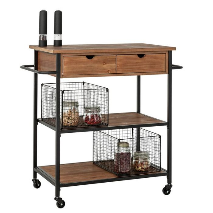 Argos Home Metal and Wood Kitchen Trolley
