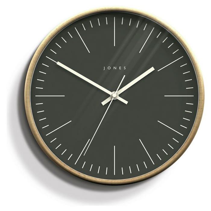 Jones Penny Wall Clock - Dark Grey