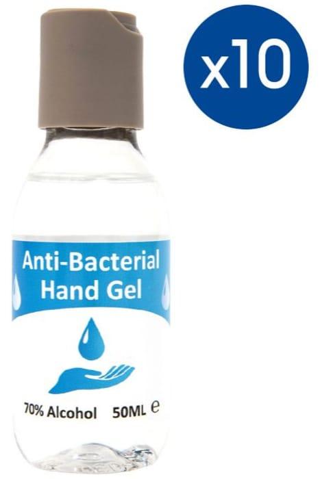 Pack of 10 Fareva Hand Sanitiser Gel 50ml