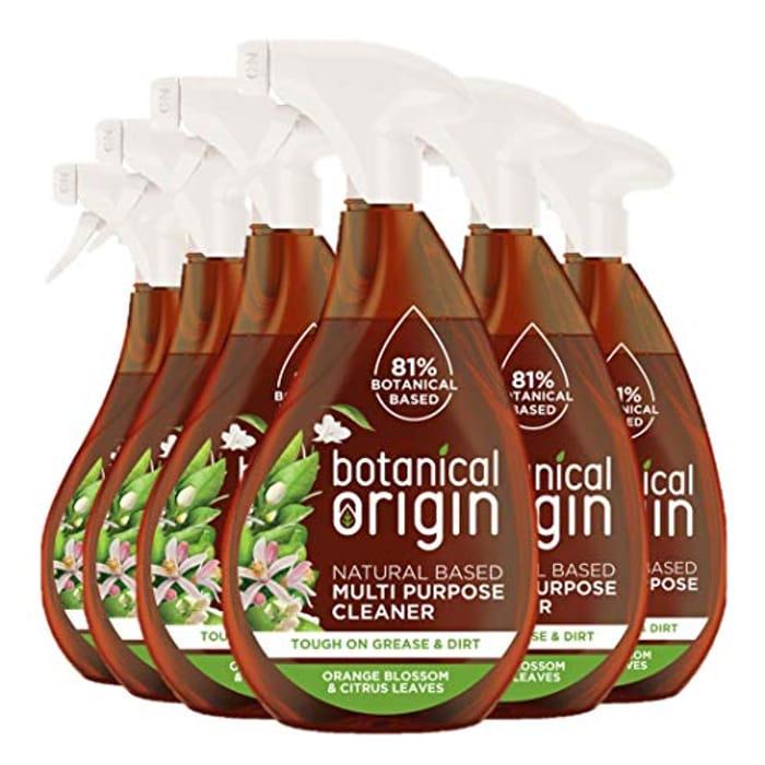 Botanical Origin Multipurpose Eco Cleaner Orange & Citrus Leaves Pack of 6