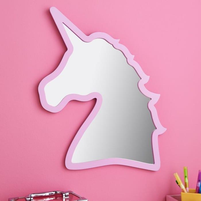 Unicorn Shape Mirror : Pink or White