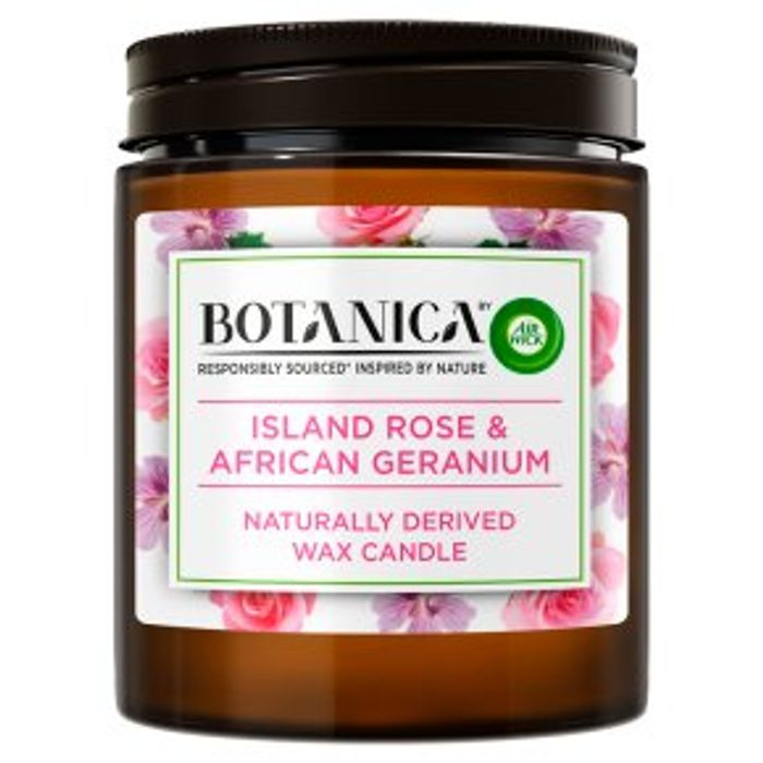 Cheap Botanica Candle Rose & Geranium 205g (40 Hours Burn Time ) Only £5!