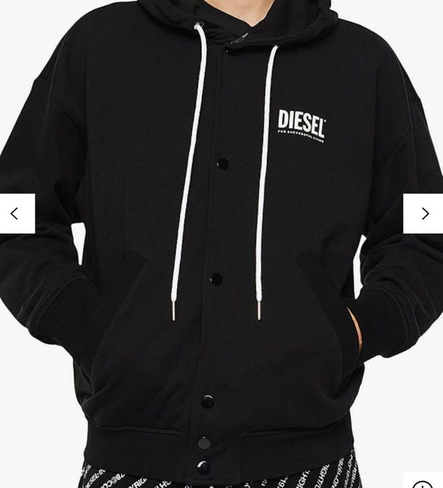 Diesel J-Bomz Reversible Fleece Hoodie Size Large - Save £129
