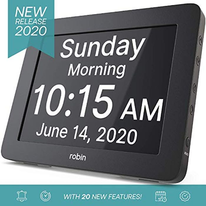 2020 Version, Digital Day Clock 2.0 with Custom Alarms and Calendar