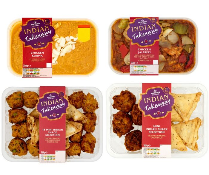 Morrisons Indian Takeaway Meal Deal For 2 - £7