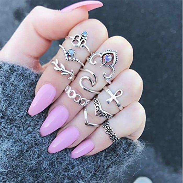 10 Piece Ring Set