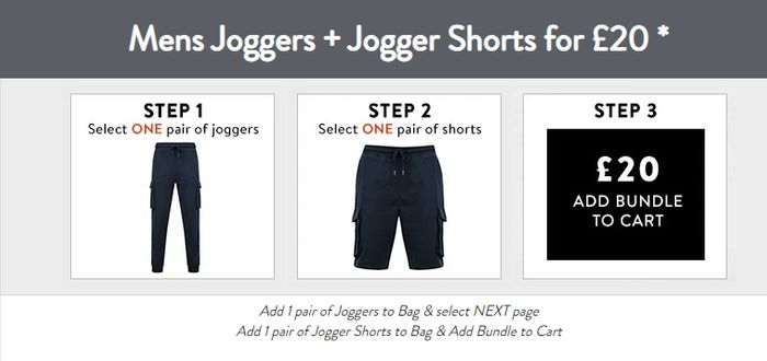 Special Offer Tokyo Laundry - Joggers & Shorts Bundle - £20