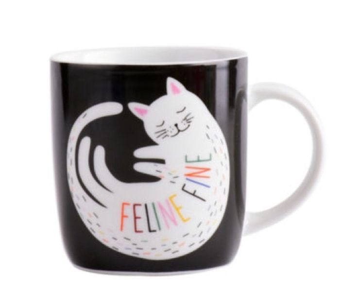 George Home Feline Fine Cat Mug with Free C&C