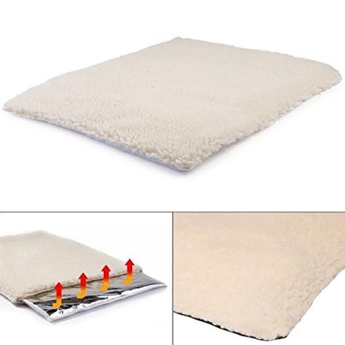 Self Heating Pet Blanket Pad Ideal for Cat/Dog Bed Medium FREE DELIVERY