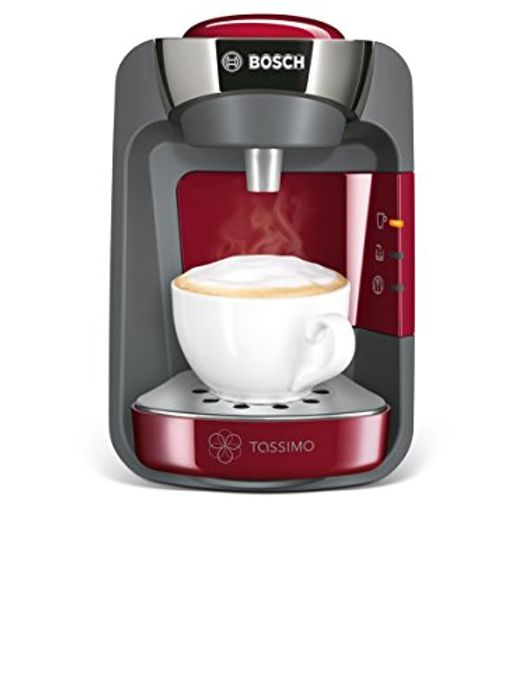 Tassimo Bosch TASSIMO Suny TAS3203GB Coffee Machine, 1300 Watt, 0.8 Litres - Red