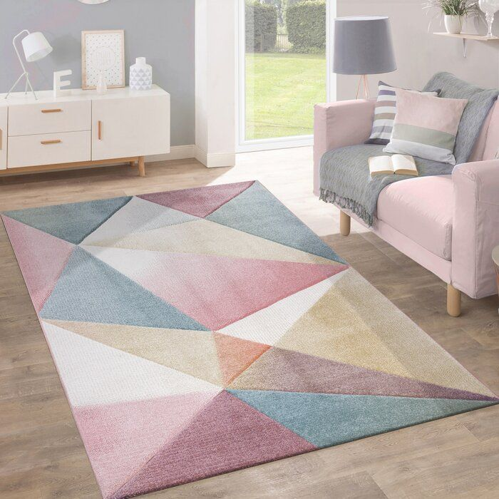 May Pink/Blue Rug 100 X 60cm