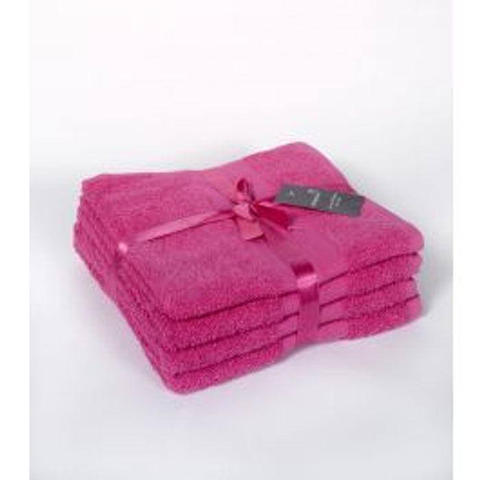 100% Cotton Hand Towels - 4 Pieces