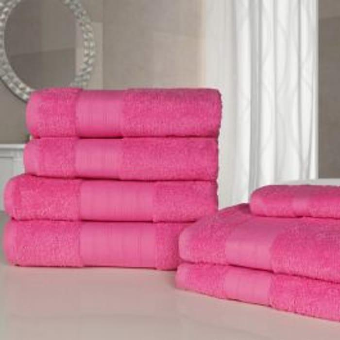 7 Piece Towel Bale - Fuchsia