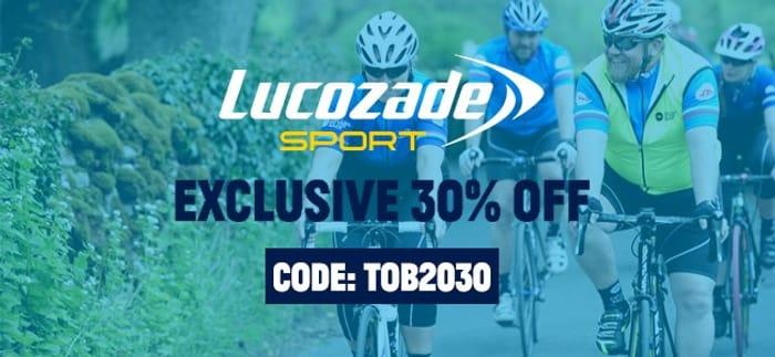 30% off Lucozade Sport and Elite Orange Gels
