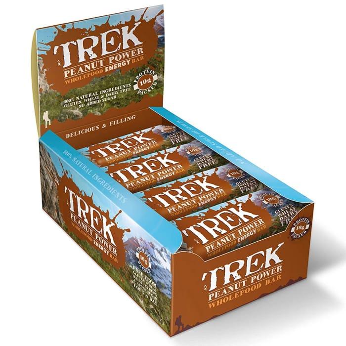 Trek Peanut Power (Case of 16 Bars) - Only £6.24!