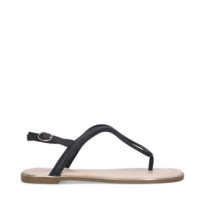 Carvela - Black 'Act' Flat Sandals - Only £9!