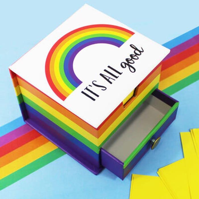 Rainbow Memo Cube