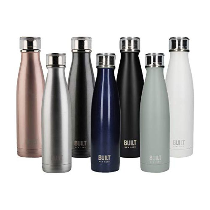 BUILT Perfect Seal Double-Walled Insulated Stainless Steel Drinks Bottle, 480 Ml