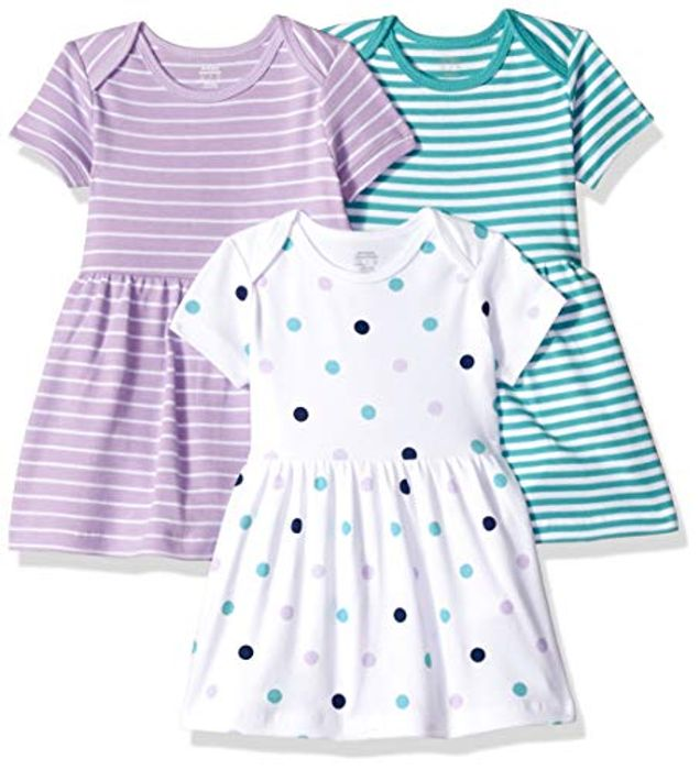 Amazon Essentials Baby Girl's 3-Pack Dress PREMATURE