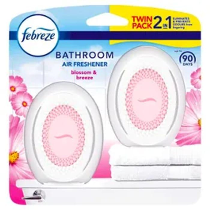 Febreze Bathroom Air Freshener In Blossom & Breeze Also Cotton Fresh *2 Pack