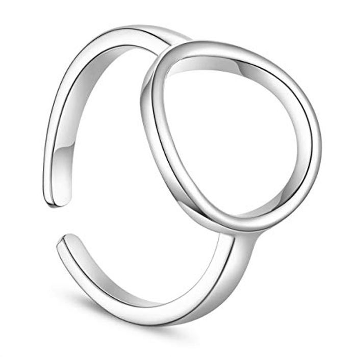 Silver Adjustable Ring Free Delivery